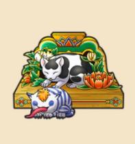 眠りの猫:栃木県のおみやげ もともと猫は起きていたが悪さをしたため目をふさいだ という説もある。