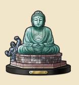 大仏の像:神奈川県のおみやげ 日本三大 大仏のひとつ。胎内を拝観することも できるとか。