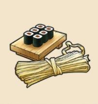 かんぴょう:栃木県のおみやげ 国産の9割が栃木のかんぴょう。巻き寿司によくみられる。