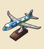 飛行機の模型:千葉県のおみやげ 大きな飛行機の模型。千葉県の大空を今日も飛ぶ。